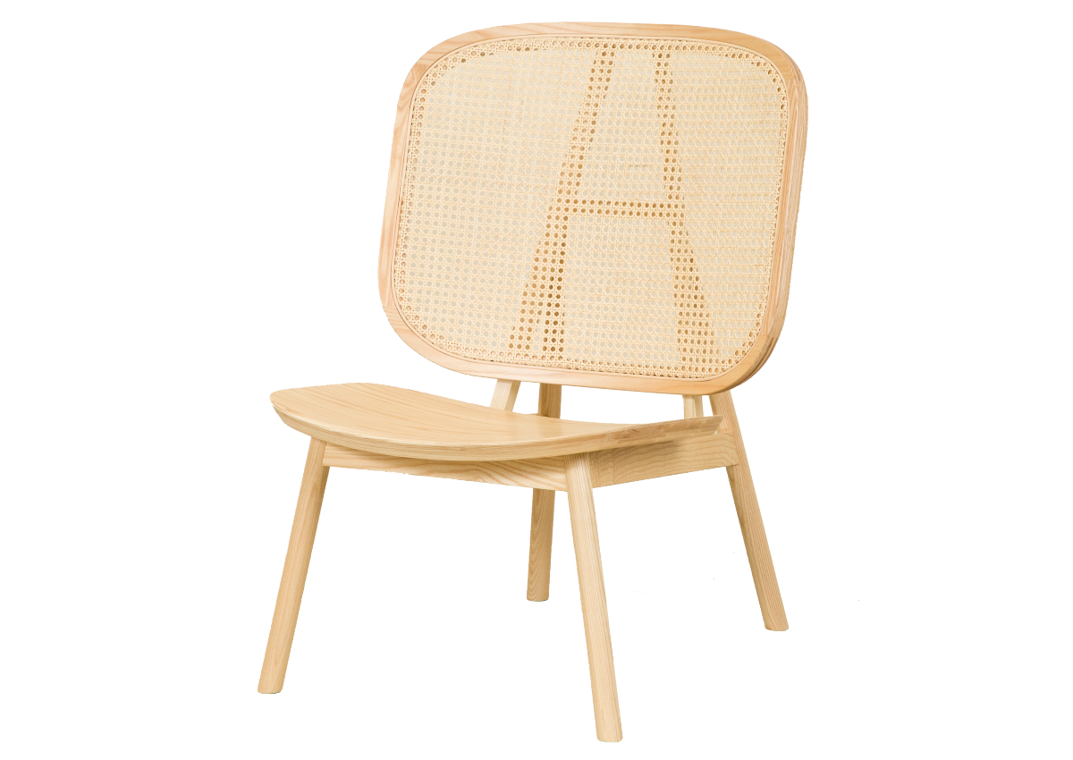 CANE lounge chair, natural