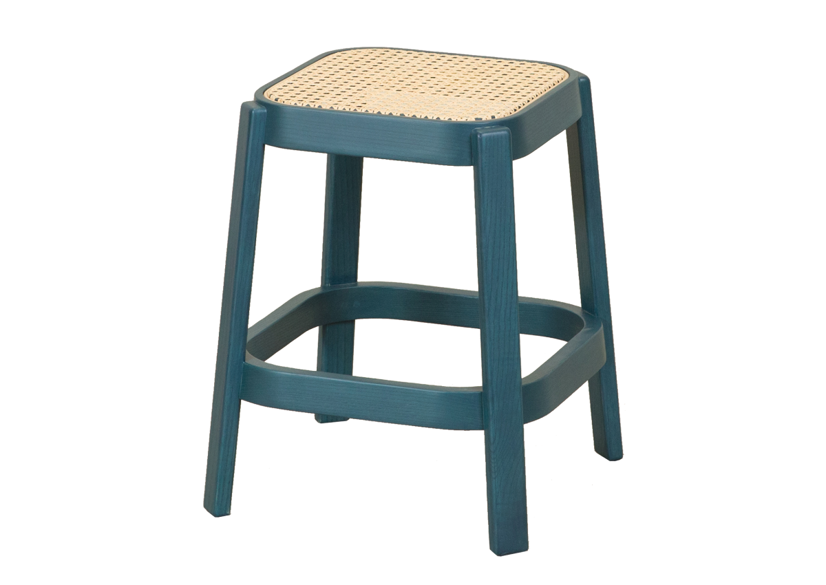 CANE low stool, ocean blue