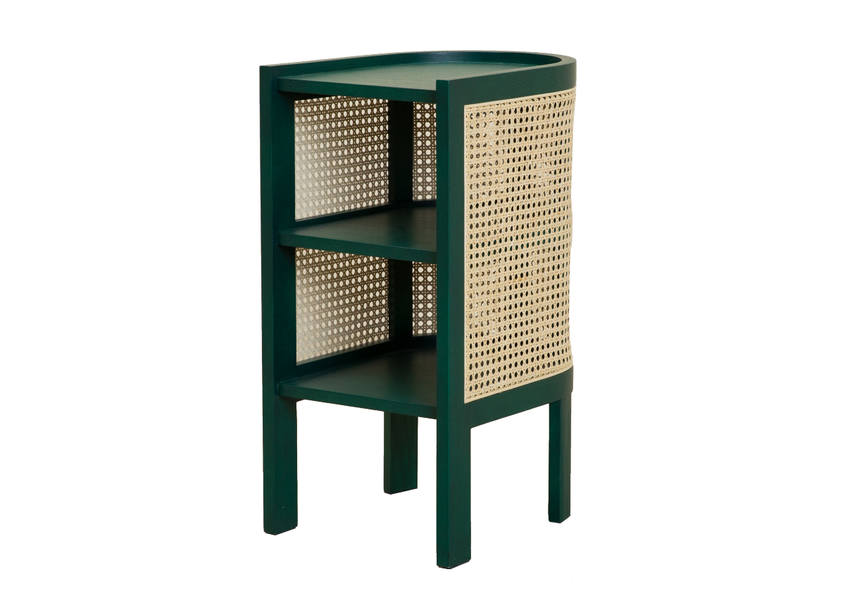 CANE night table, green