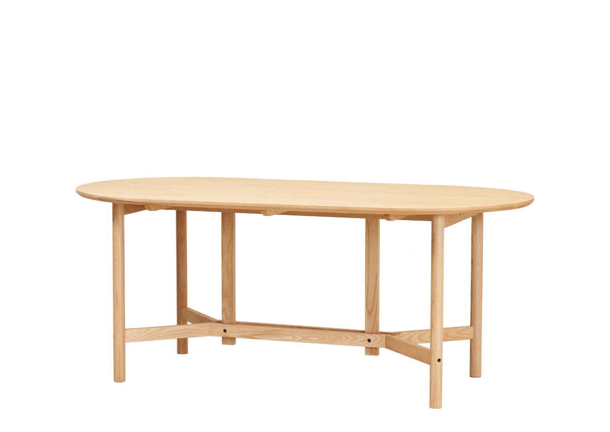 CANE arch table, natural ash