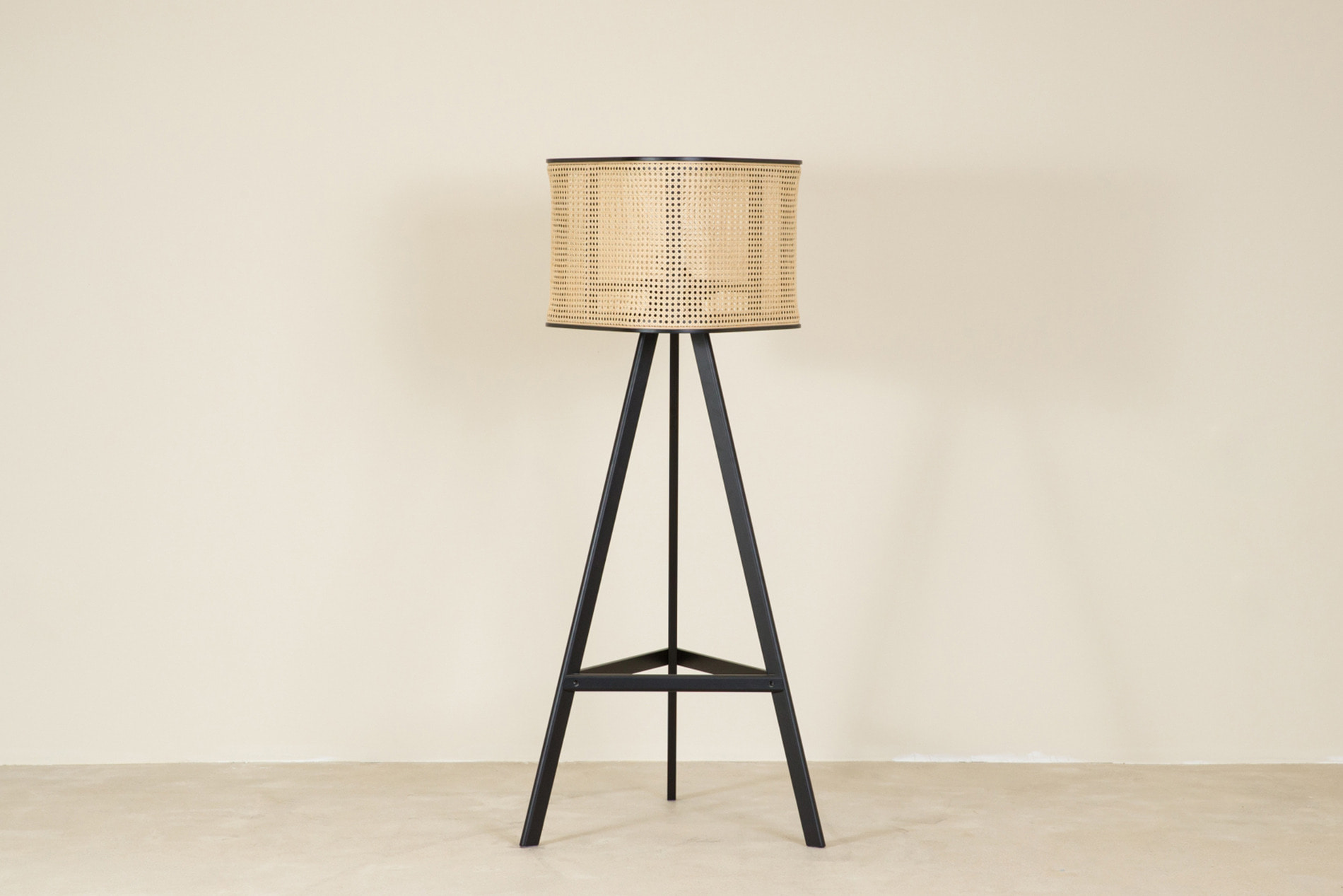 CANE floor lamp, black