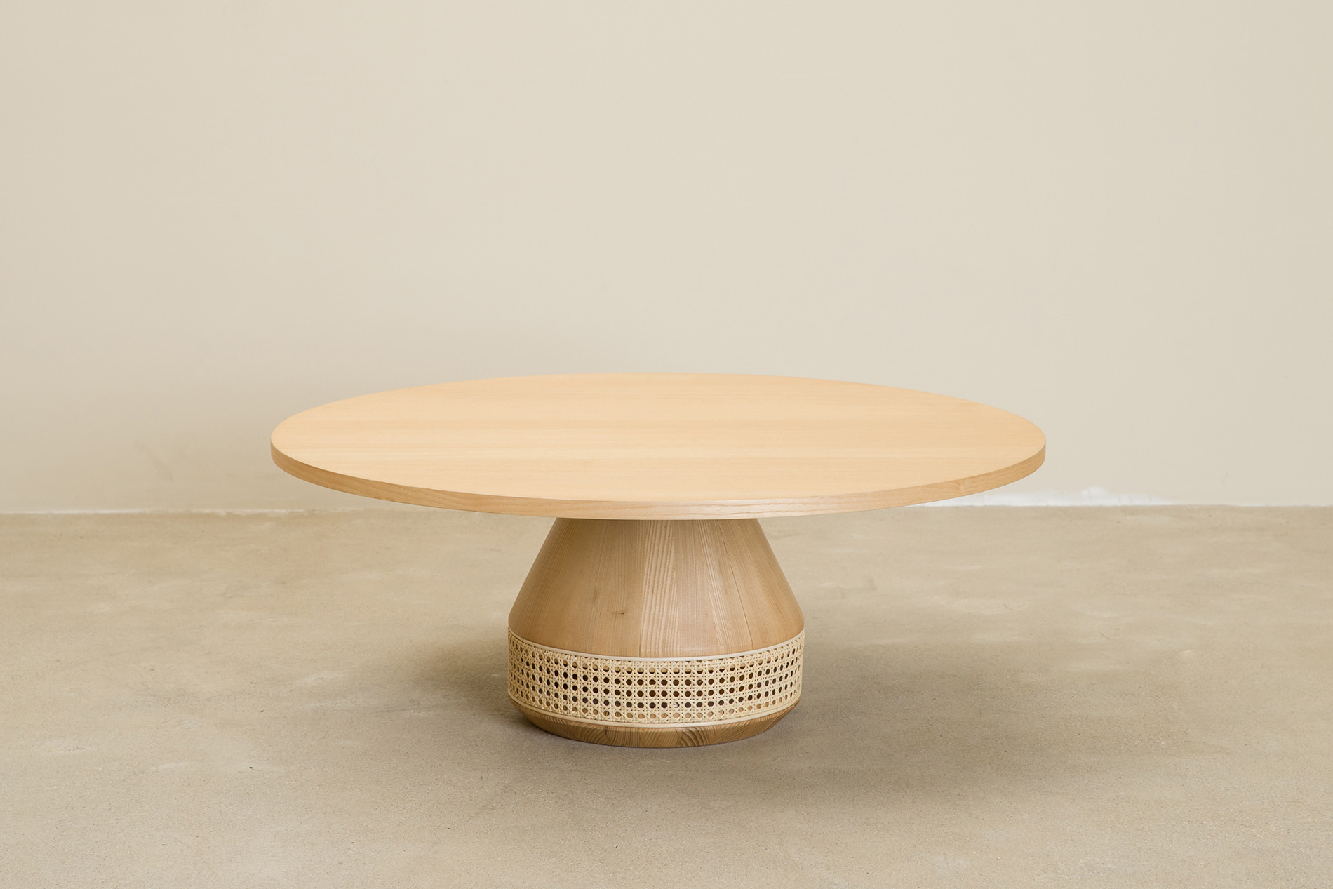 CANE round tea table