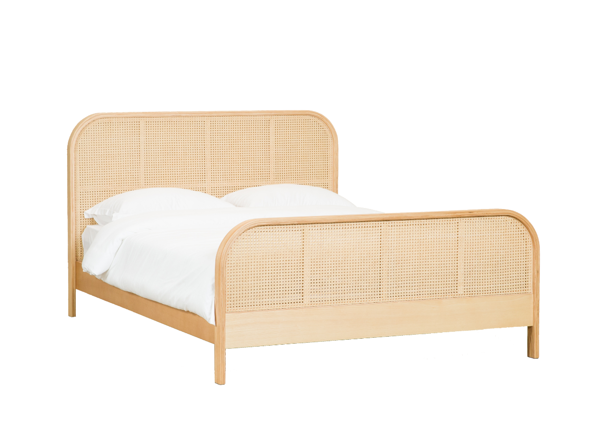 CANE bed Q, natural ash