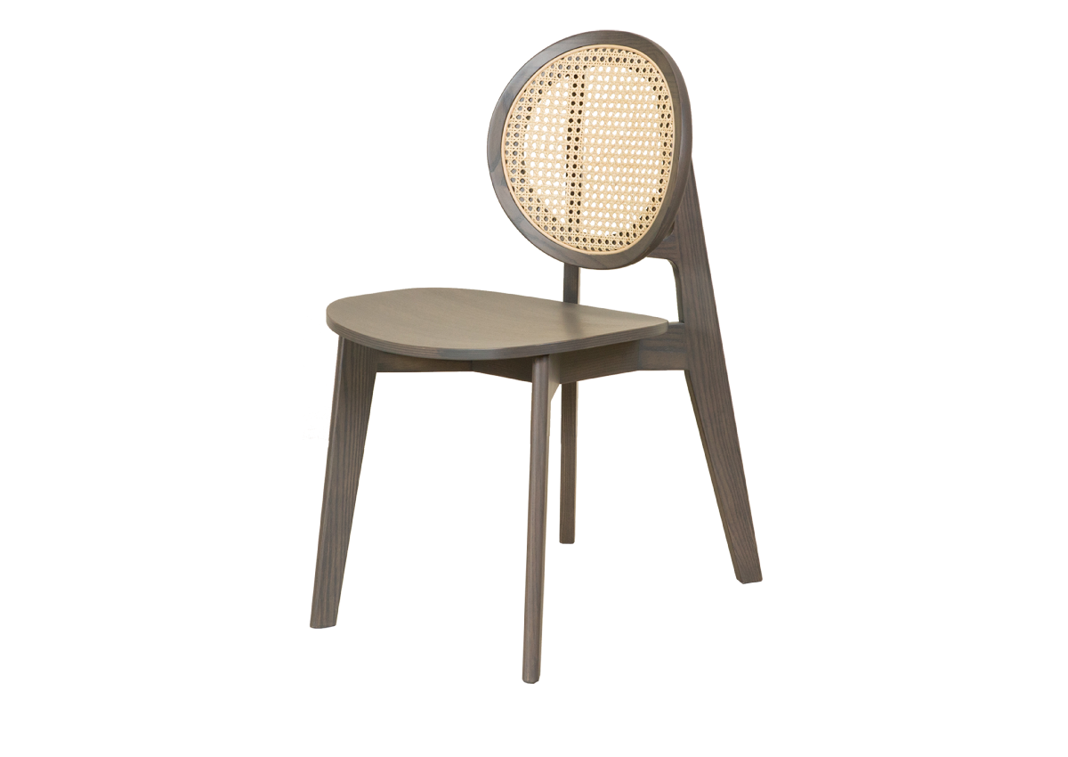 CANE chair B, dark grey