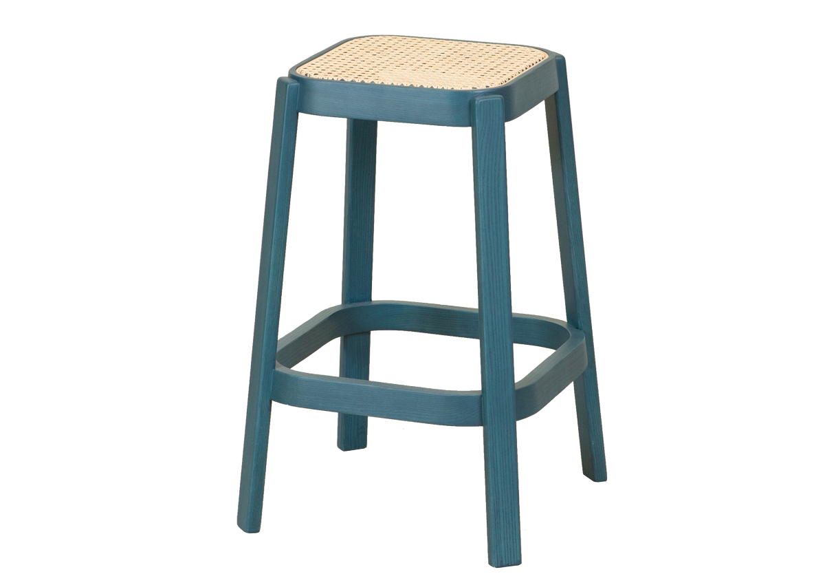 CANE high stool, ocean blue
