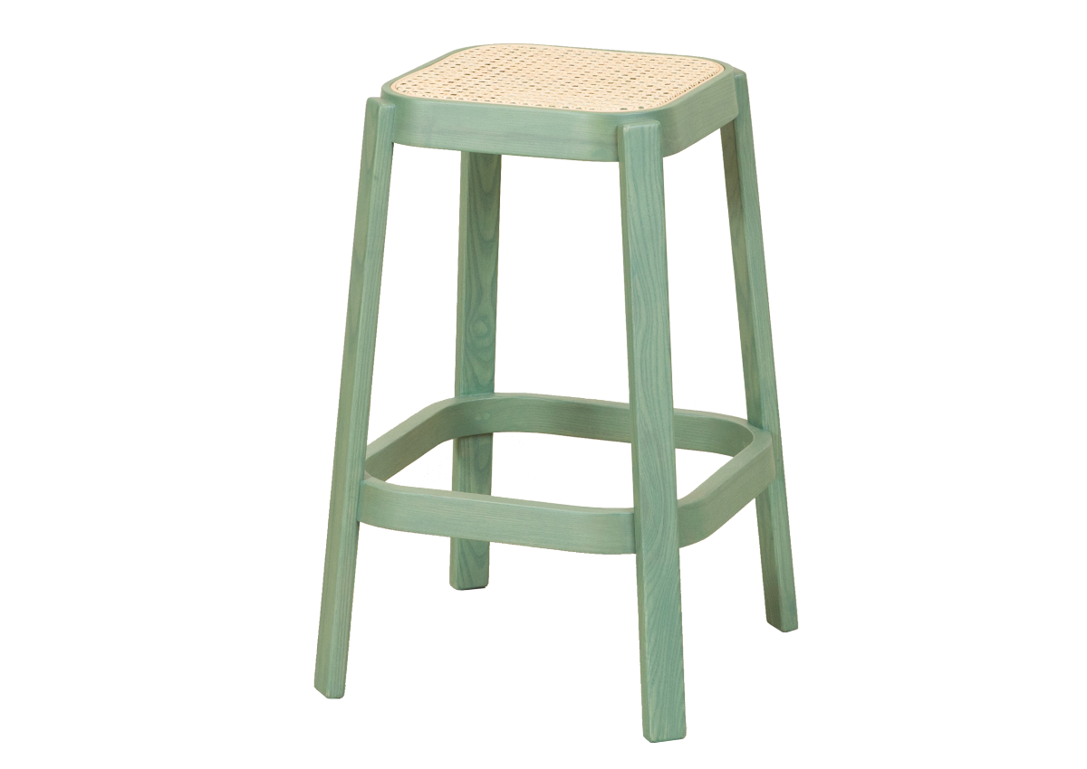 CANE high stool, cactus green