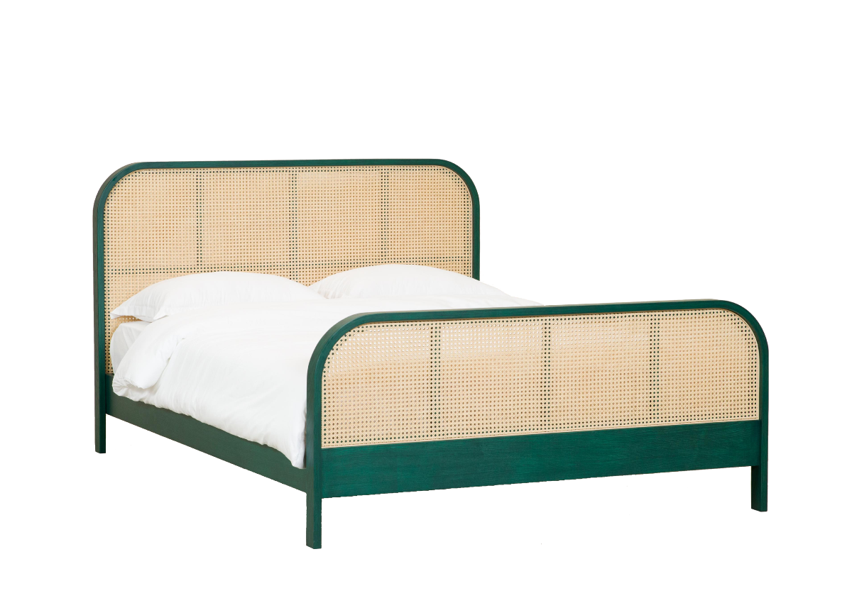 [매장문의] CANE bed Q, tropical green