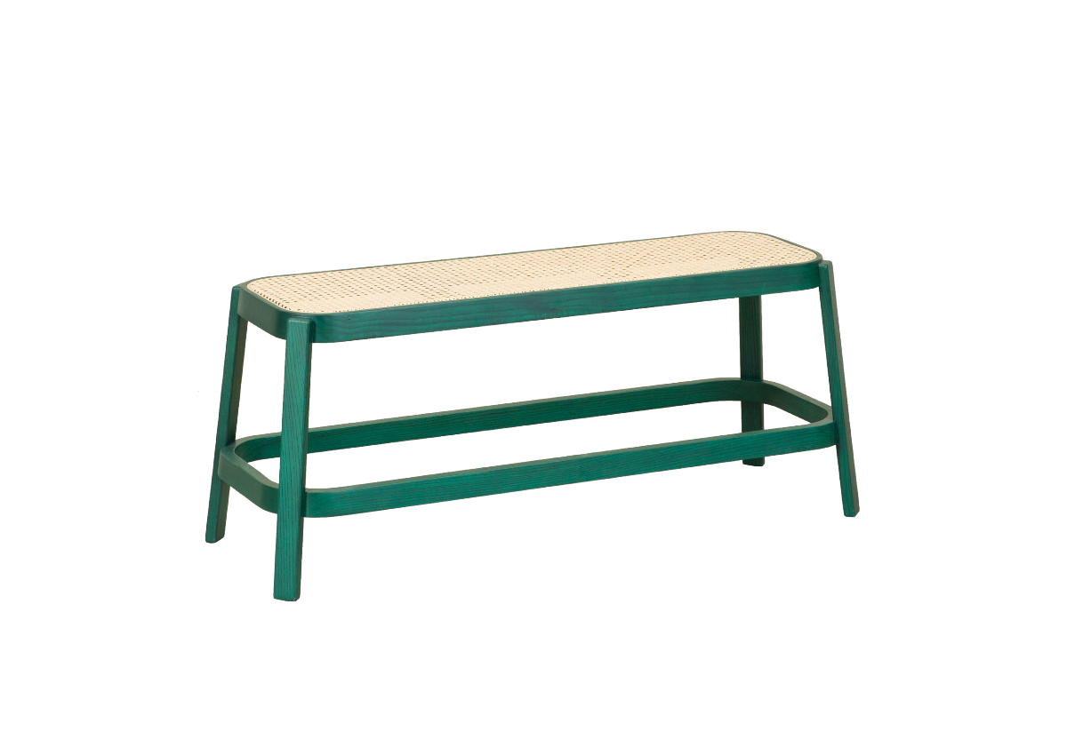 CANE bench, tropical green