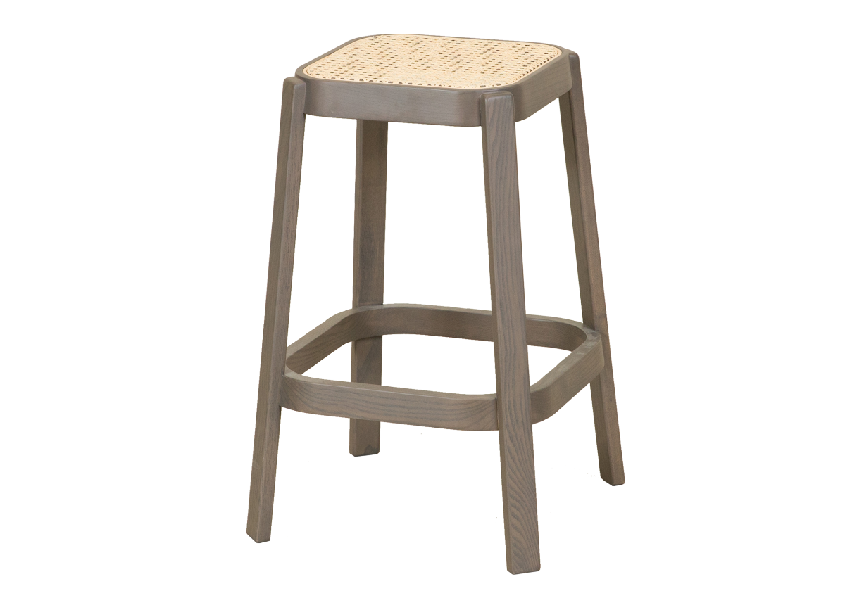 CANE high stool, dark grey
