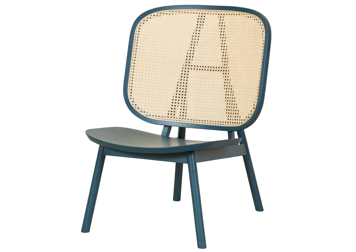 CANE lounge chair, ocean blue