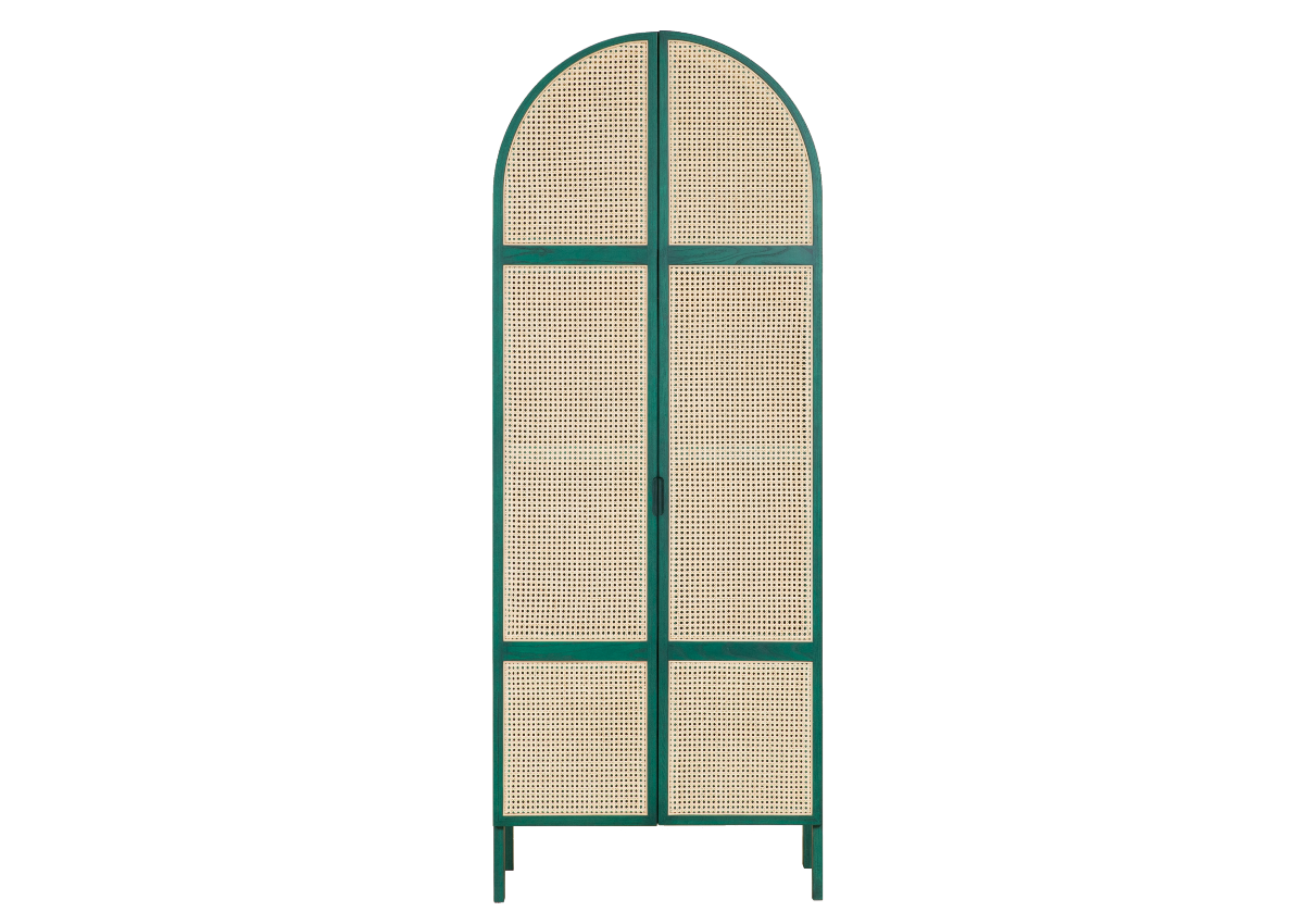 CANE wardrobe, tropical green