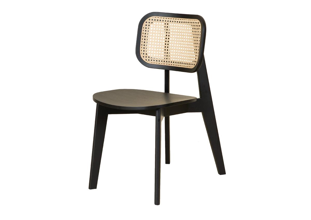 CANE chair A, black
