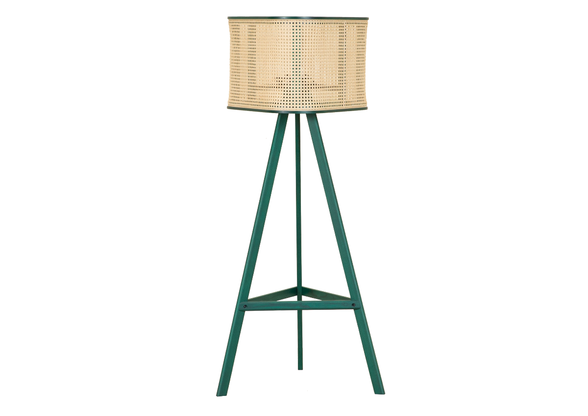 CANE floor lamp, tropical green