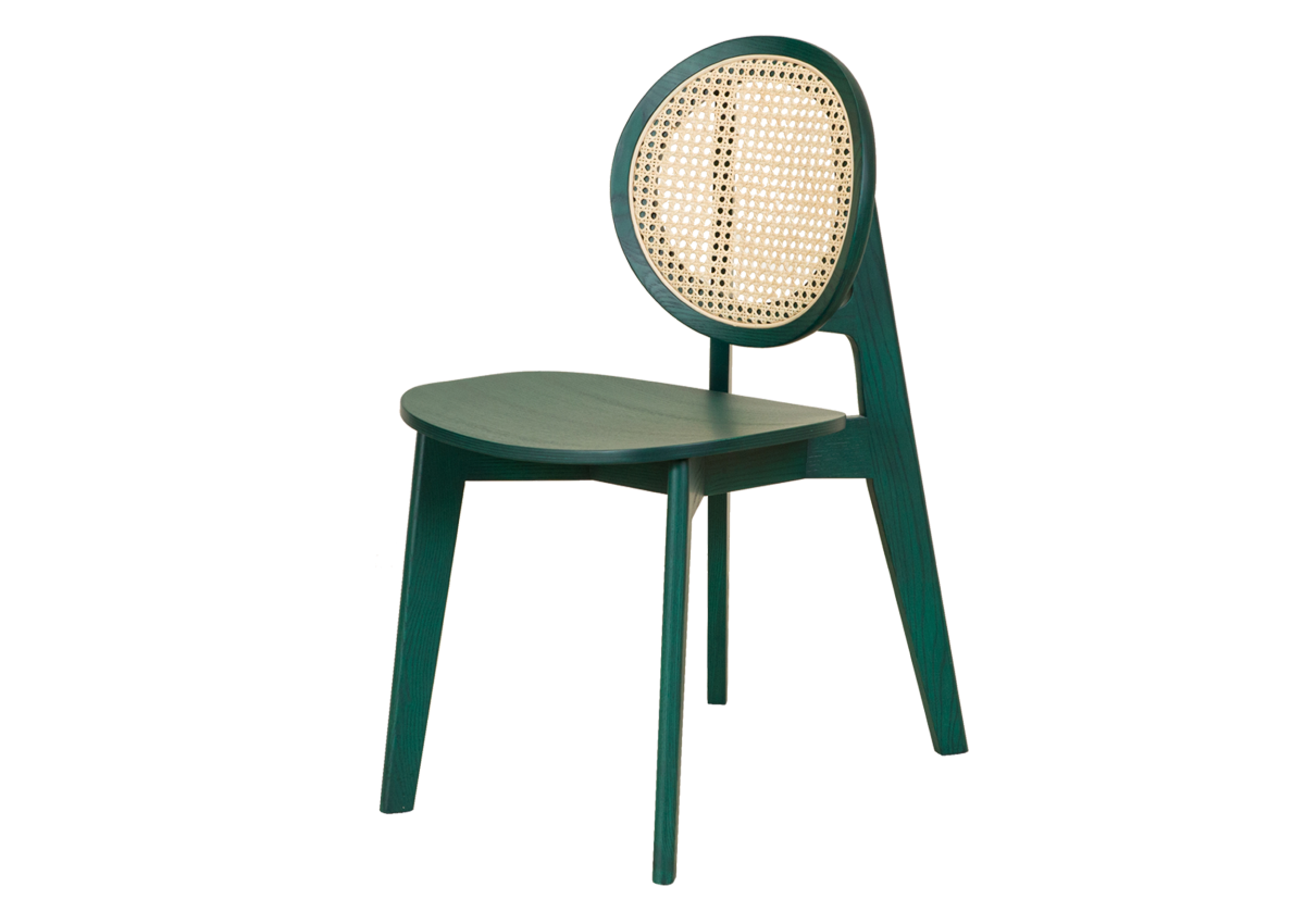 CANE chair B, tropical green