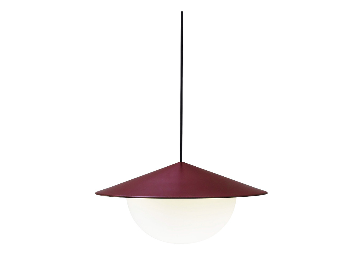 AGO alley pendant, burgundy (2 sizes)