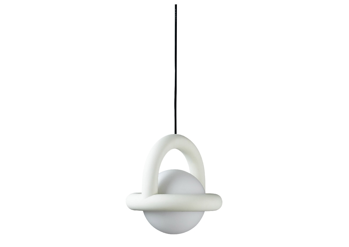 AGO balloon pendant, egg white