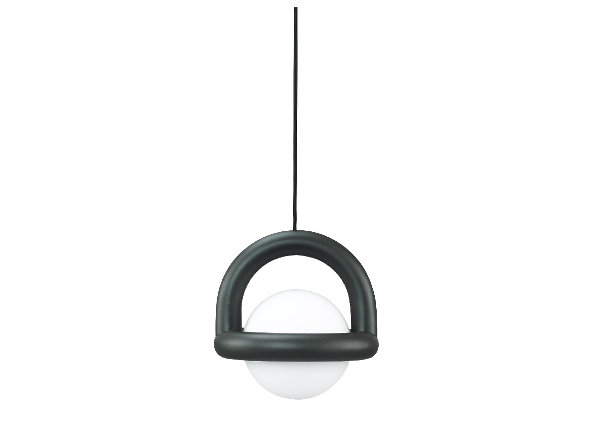 AGO balloon pendant, charcoal