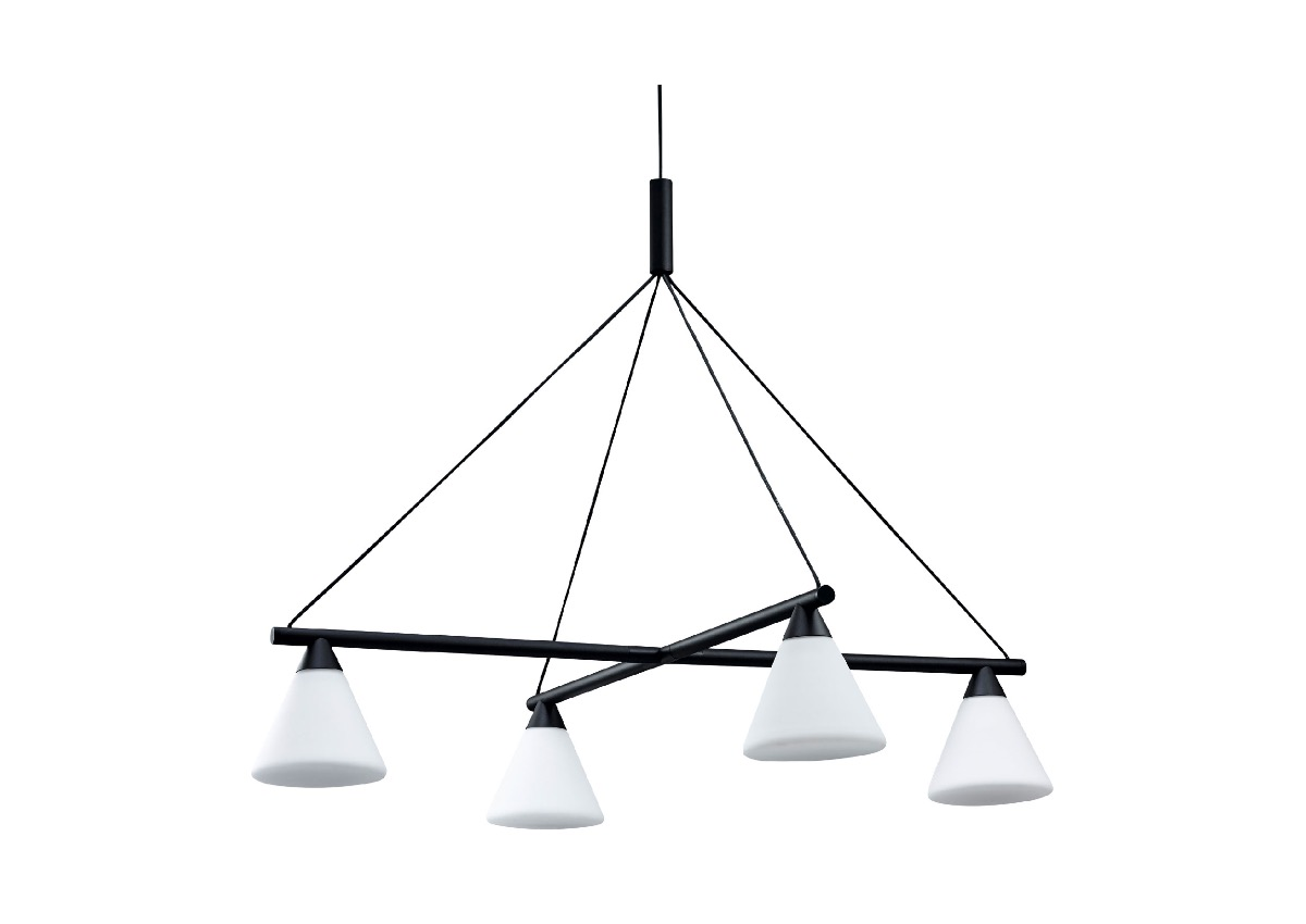 AGO probe chandelier glass, black